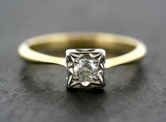Antique Art Deco Engagement Rings