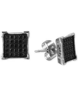 Black Diamond Earrings For Men