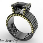 Black Diamond Ring Black Gold