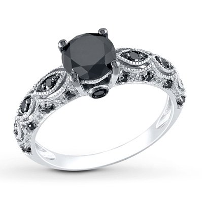 Black Diamond Ring Kay Jewelers