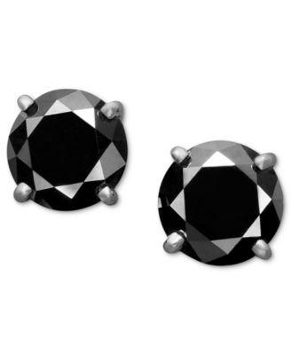 Black Diamond Stud Earrings
