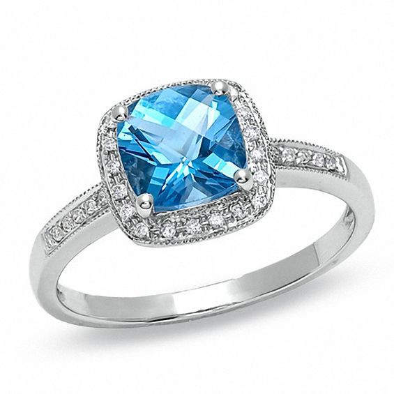 Blue Topaz Engagement Rings