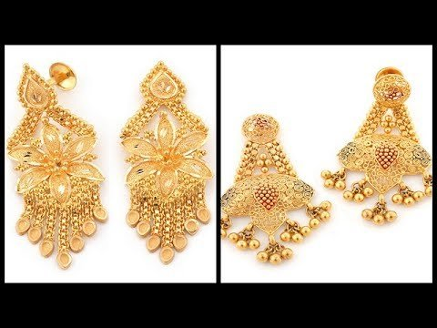 Design Of Gold Earrings With Latest