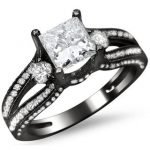 Engagement Rings Black Gold