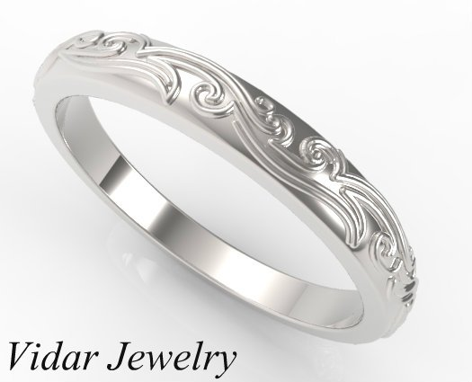 Engraved Design Wedding Rings