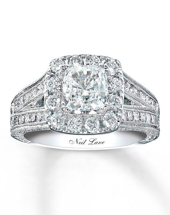 Glamor, Luxurious but Elegance Cushion Cut Neil Lane Engagement Ring
