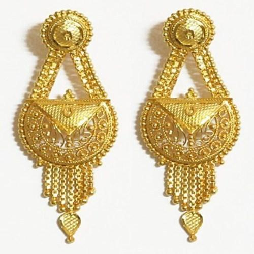 Gold Earring Designs For Wedding