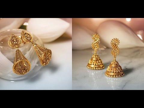 Gold Earrings Designs In Tanishq