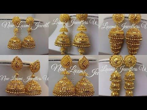Gold Jhumka New Design