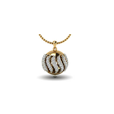 Gold Pendant Designs For Women With Price