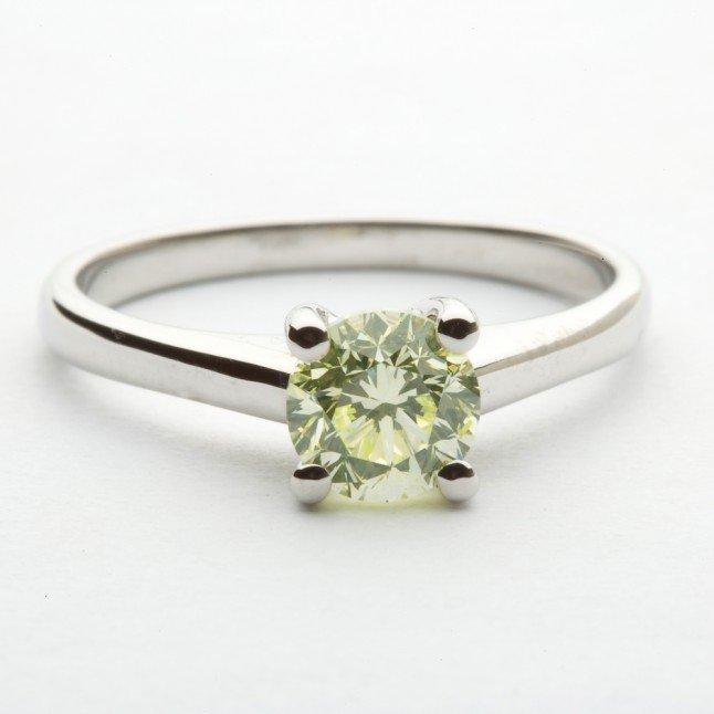 Green Diamond Engagement Rings
