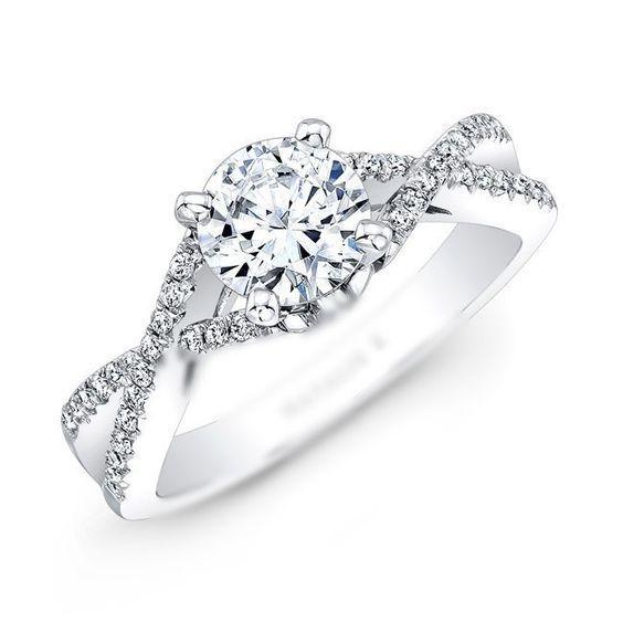 Infinity Twist Micropave Diamond Engagement Ring