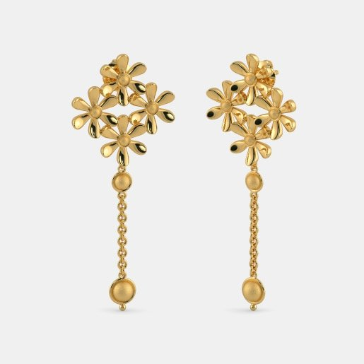 Latest Designs Of Golden Earrings