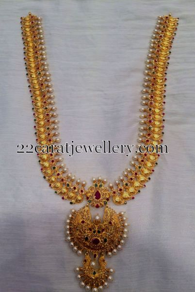 Mango desigs gold long chains