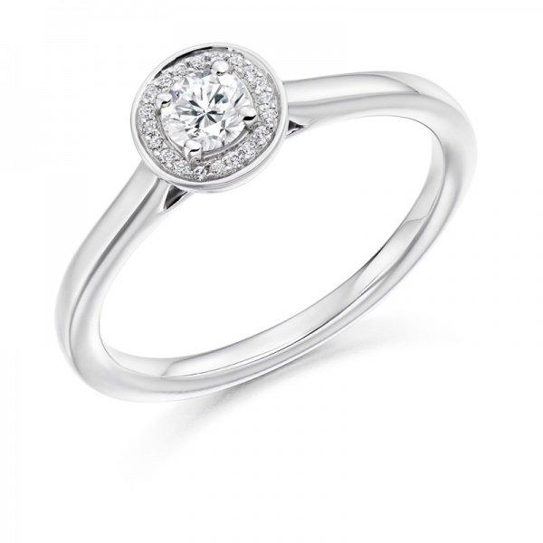 Plain White Gold Engagement Ring
