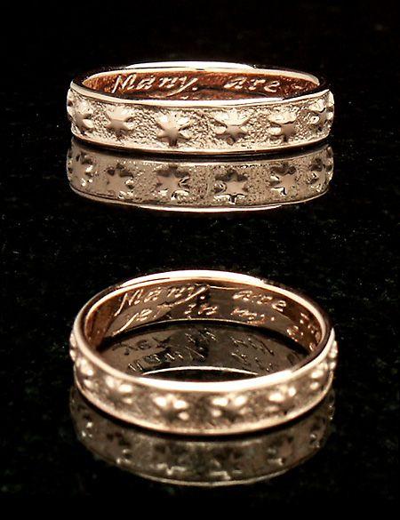 Posy Wedding Rings Rose