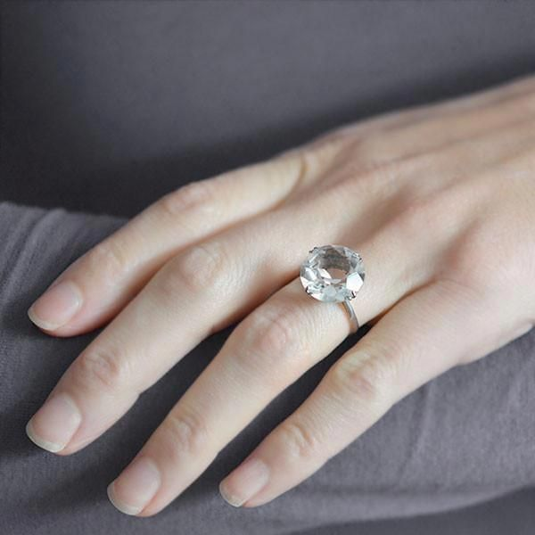 Rock Crystal Engagement Rings