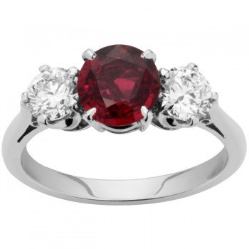 Ruby And Diamond Engagement Ring