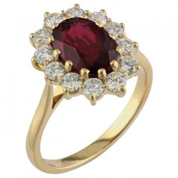 Ruby Engagement Rings Uk