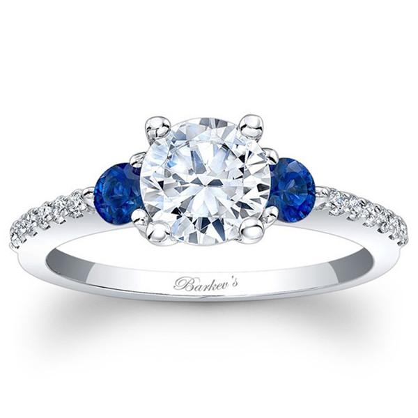 Sapphire Diamond Engagement Rings