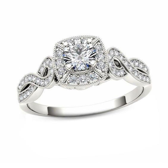 Vintage Looking Engagement Rings