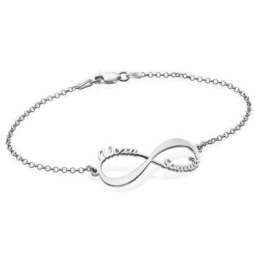 White Gold Infinity Bracelet