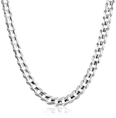 White Gold Mens Necklace