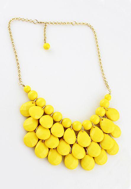 Yellow Beads Jewerly