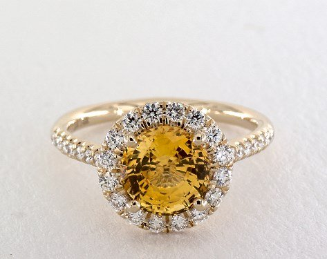 Yellow Sapphire Engagement Rings